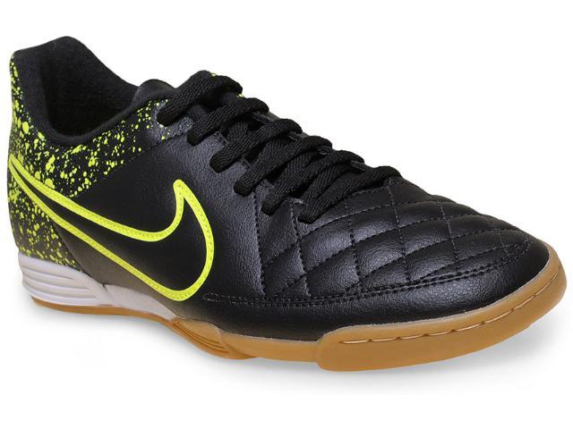 Tênis Masculino Nike 631523-007 Tiempo Rio ii ic  Preto/limão