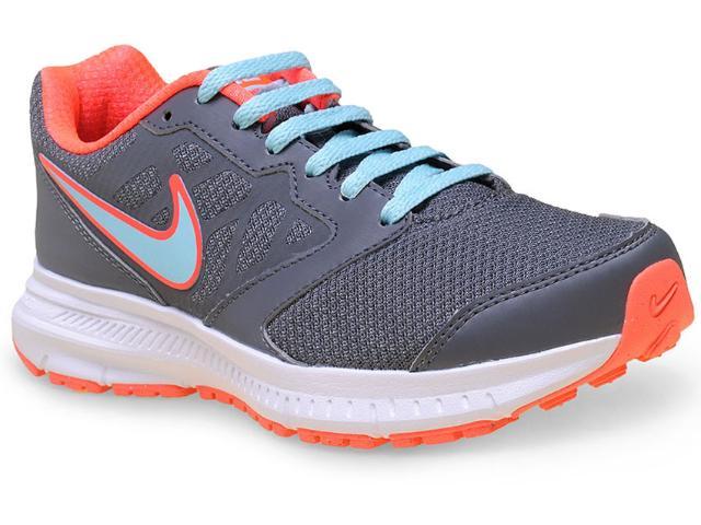 Tênis Feminino Nike 684771-018 Wmns Downshifter 6 Msl   Grafite/laranja/azul