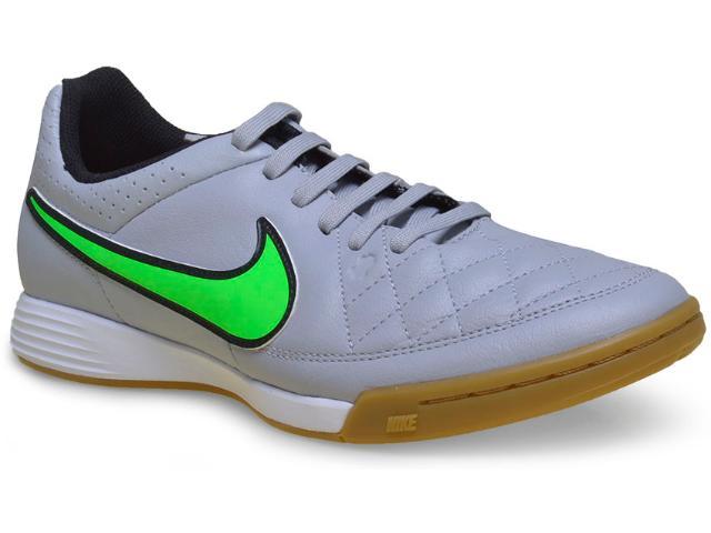 Tênis Masculino Nike 631283-030 Tiempo Genio Leather ic  Cinza/verde