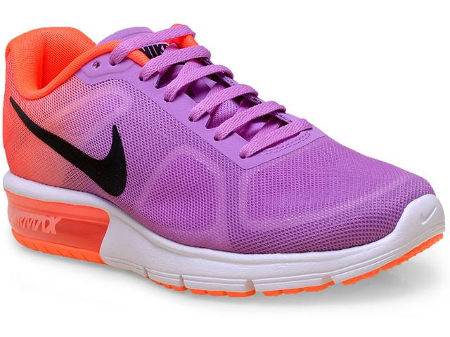 Tênis Feminino Nike 719916-502 Wmns Air Max Sequent Violeta/laranja