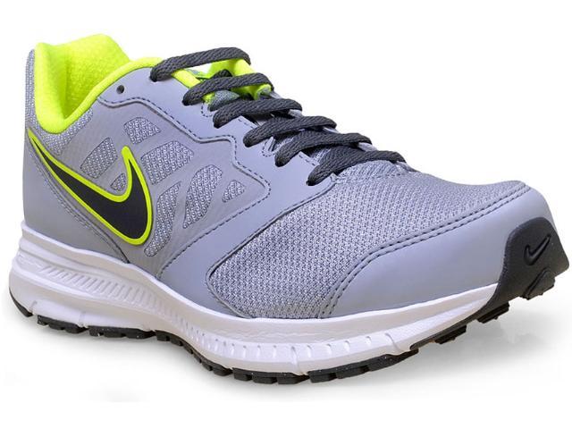 Tênis Masculino Nike 684658-021 Downshifter 6 Msl  Cinza/limão