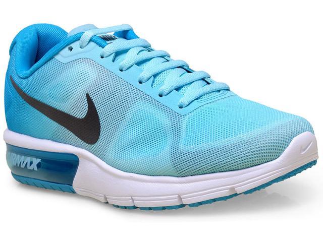 Tênis Feminino Nike 719916-402 Wmns Air Max Sequent Azul Aqua/azul