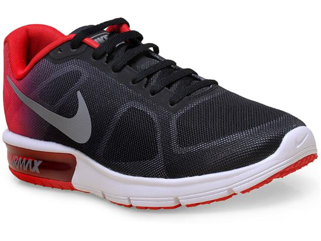 Tênis Masculino Nike 719912-008 Air Max Sequent  Preto/vermelho
