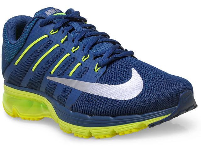 Tênis Masculino Nike 806770-407 Air Max Excellerate 4  Marinho/limão