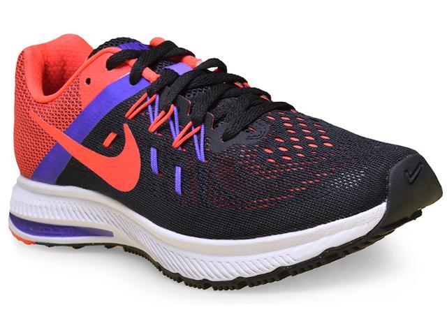 Tênis Feminino Nike 807279-006 Zoom Winflo 2 Preto/coral/roxo