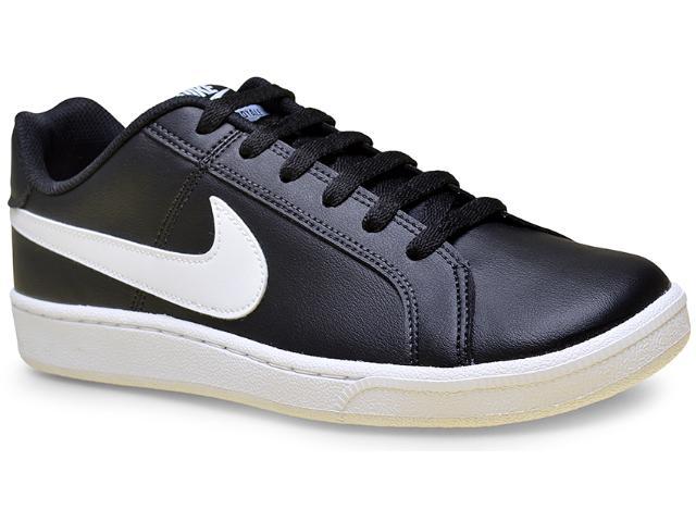 Tênis Masculino Nike 749747-010 Court Royale  Preto/branco