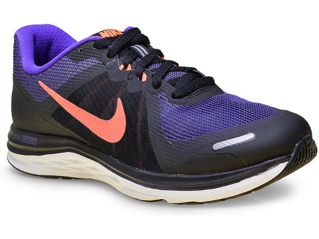 Tênis Feminino Nike 819318-005 Dual Fusion x 2  Preto/roxo