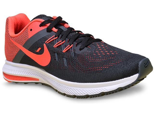 Tênis Masculino Nike 807276-006 Zoom Winflo 2 Preto/coral