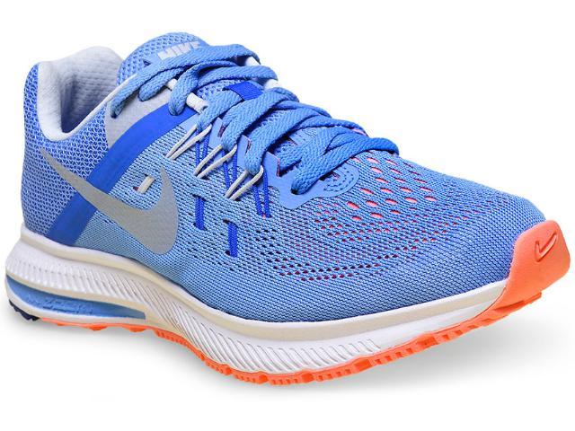 Tênis Feminino Nike 807279-401 Zoom Winflo 2 Azul  Claro