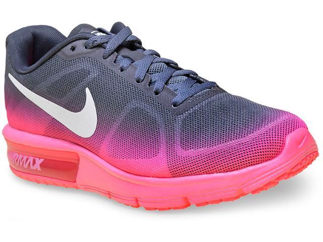 Tênis Feminino Nike 719916-602 cp Max Chumbo/rosa