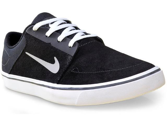 Tênis Masculino Nike 725027-012 sb Portmore Preto/branco/cinza