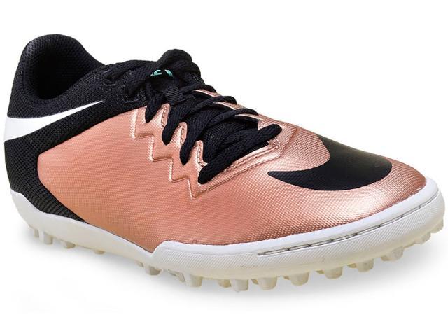 Tênis Masculino Nike 749904-903 Hypervenomx Pro tf  Preto/cobre