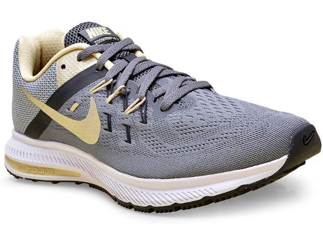 Tênis Masculino Nike 807276-007 Zoom Winflo 2 Chumbo/ouro/preto