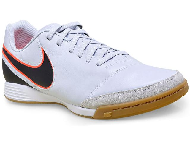 Tênis Masculino Nike 819215-001 Tiempo Genio ii Leather ic Cinza/preto/coral