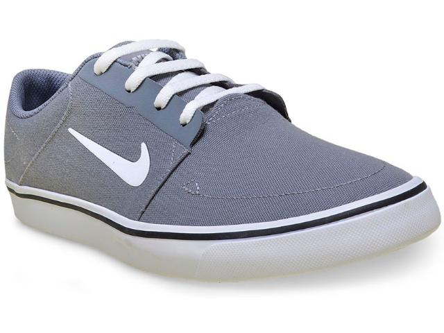 Tênis Masculino Nike 723874-004 sb Portmore Cnvs Cinza/branco