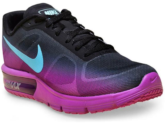 Tênis Feminino Nike 719916-010 cp Max Roxo/preto/azul