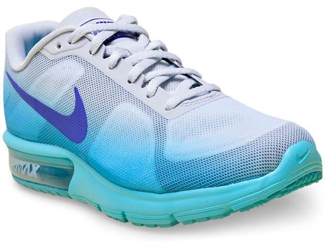 Tênis Feminino Nike 719916-009 cp Max Cinza/roxo/azul