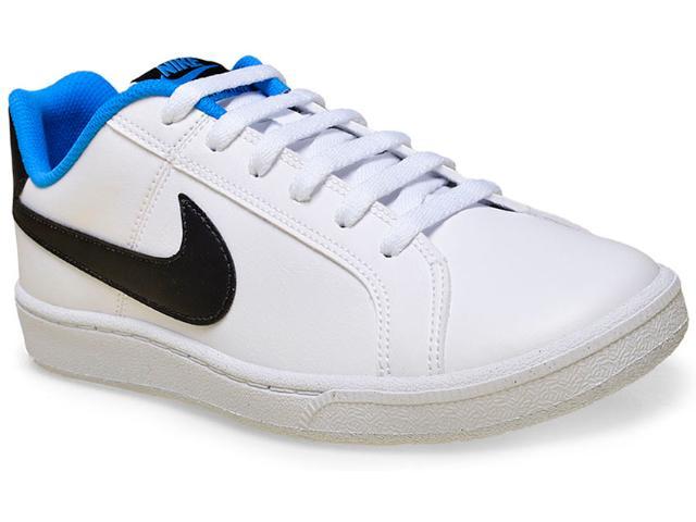 Tênis Masculino Nike 749747-104 Court Royale  Branco/preto/azul
