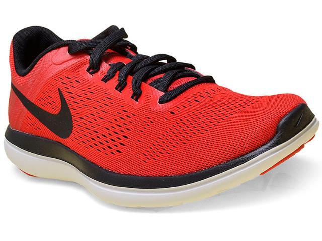 Tênis Masculino Nike 830369-600 Flex 2016 rn Vermelho/preto