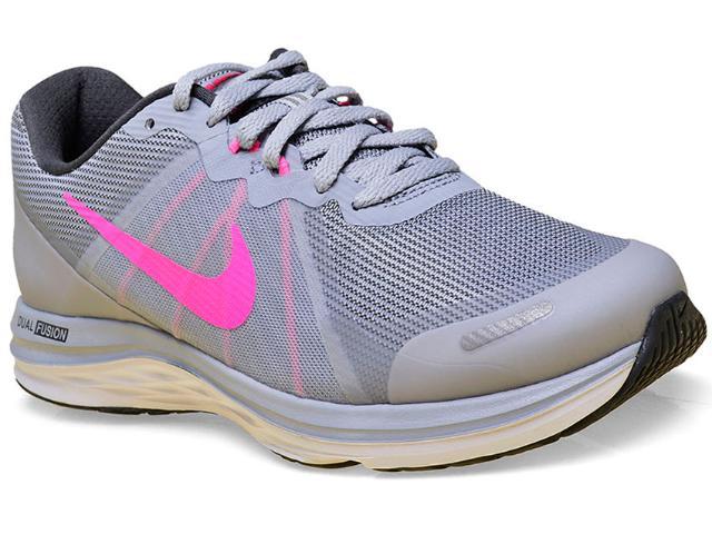 Tênis Feminino Nike 819318-007 Dual Fusion x 2  Cinza/pink