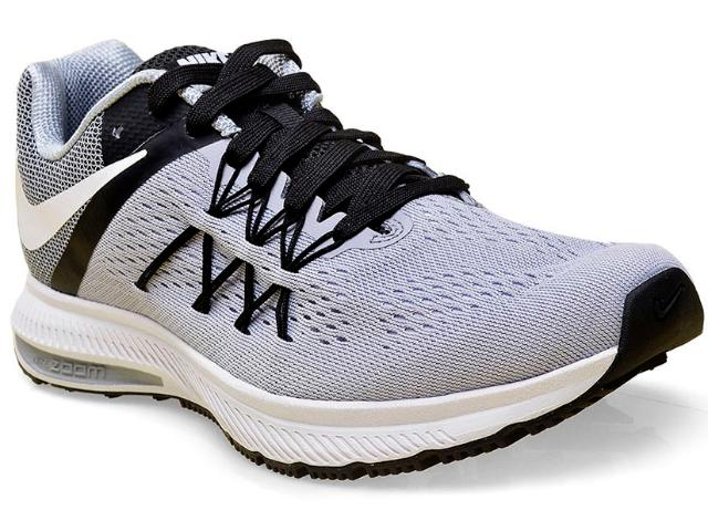 Tênis Masculino Nike 831561-002 Air Zoom Winflo 3  Cinza/preto
