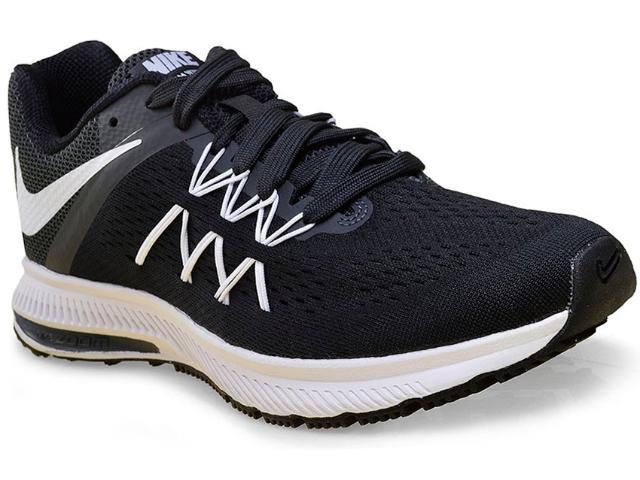 Tênis Feminino Nike 831562-001 Air Zoom Winflo 3  Preto/branco