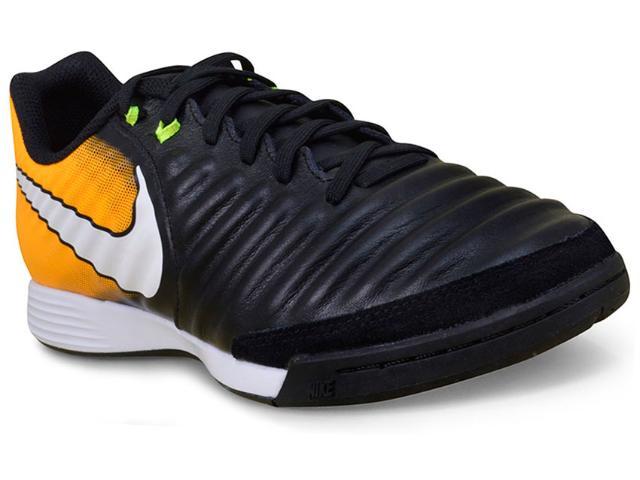 Tênis Masculino Nike 897765-008 Tiempox Ligera iv ic  Preto/laranja/branco