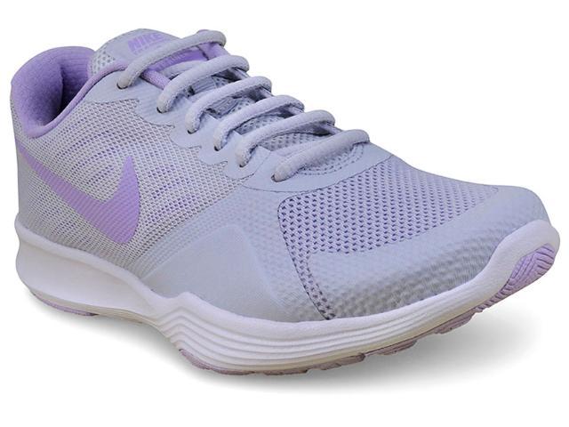 Tênis Feminino Nike 909013 005 City Trainer Cinza Claro Lilas