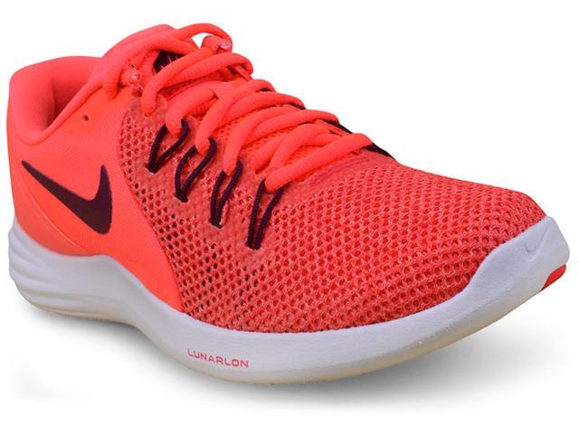 Tênis Feminino Nike 908998-600  Lunar Apparent Laranja/branco