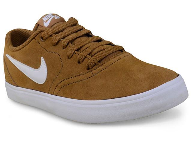 Tênis Masculino Nike 843895-212 sb Check Solar Camel