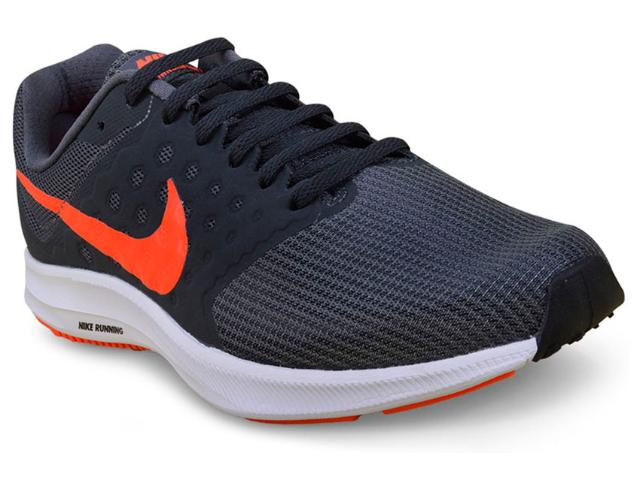 Tênis Masculino Nike 852459-010 Downshifter 7  Grafite/laranja