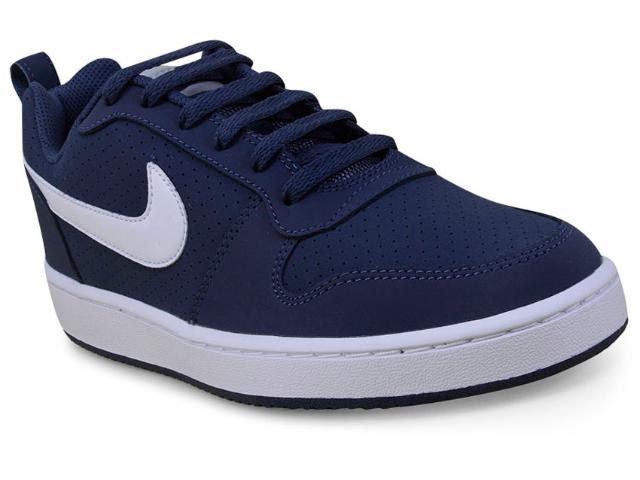 Tênis Masculino Nike 838937-401 Court Borough Low Azul/branco