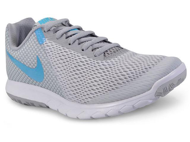 Tênis Feminino Nike 881805-011 Flex Experience rn 6  Cinza/azul/branco