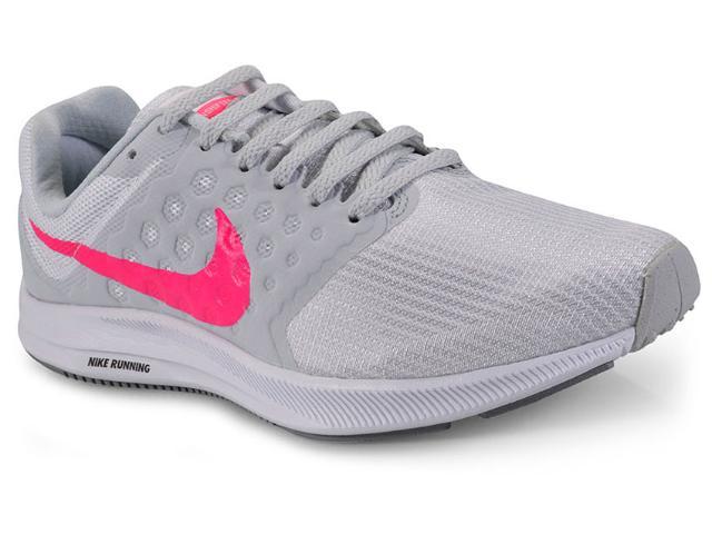 Tênis Feminino Nike 852466-102 Downshifter 7 Cinza/branco