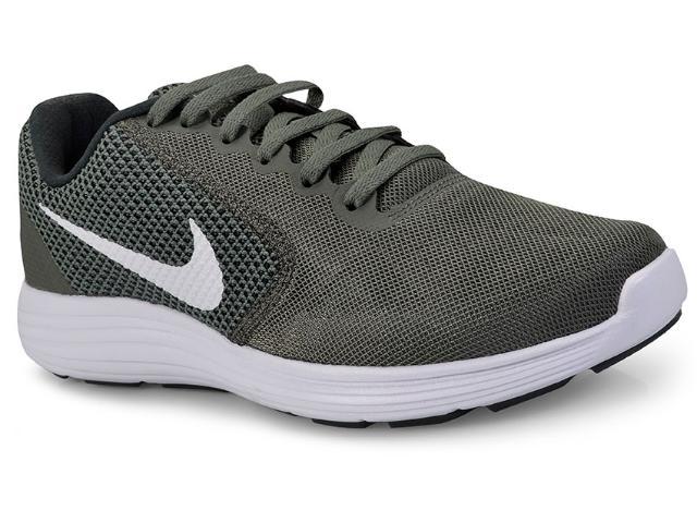 Tênis Masculino Nike 819300-020 Revolution 3 Verde Musgo/branco