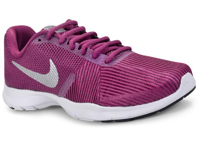 Tênis Feminino Nike 881863-601 Flex Bijoux Vinho/branco