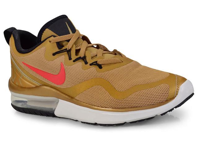 Tênis Masculino Nike Aa5739-700 Air Max Fury Dourado/vermelho