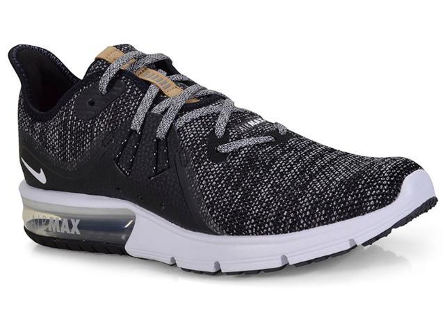 Tênis Masculino Nike 921694-011 Air Max Sequent 3 Preto/branco