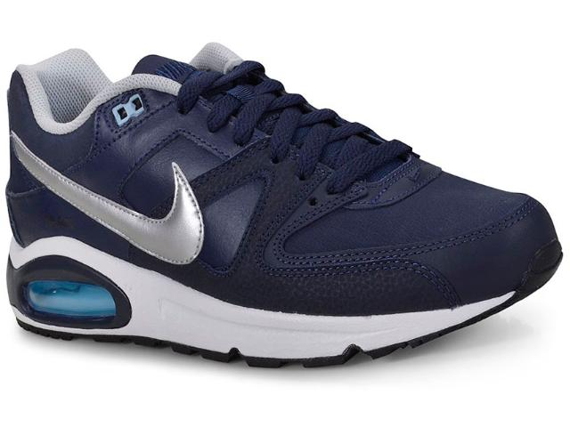 Tênis Masculino Nike 749760-401 Air Max Command  Marinho/prata