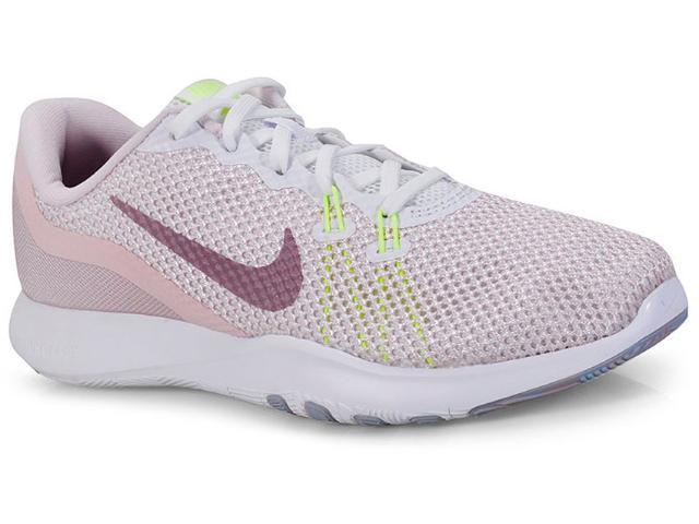 Tênis Feminino Nike 898479-104 Wmns Flex Trainer 7 Rosa Claro/branco