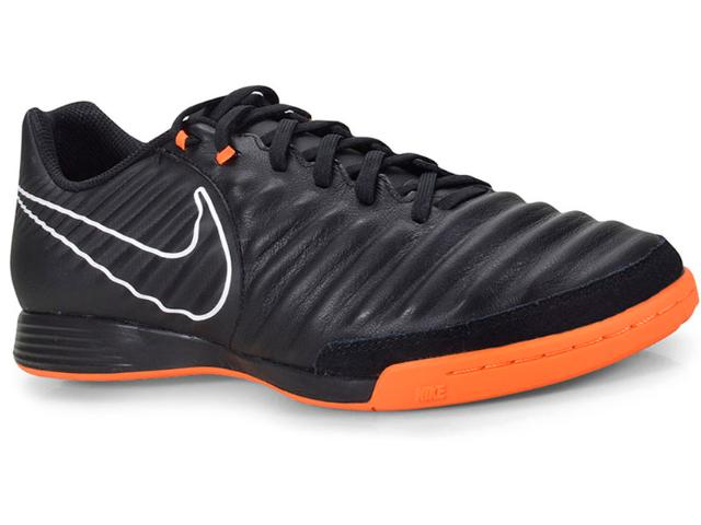 Tênis Masculino Nike Ah7244-080 Tiempo Legendx Academy ic  Preto/laranja