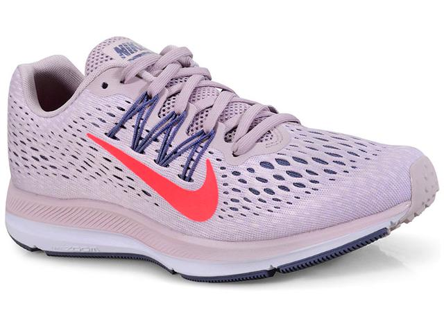 Tênis Feminino Nike Aa7414-600 Wmns Zoom Winflo 5 Lilas Envelhecido
