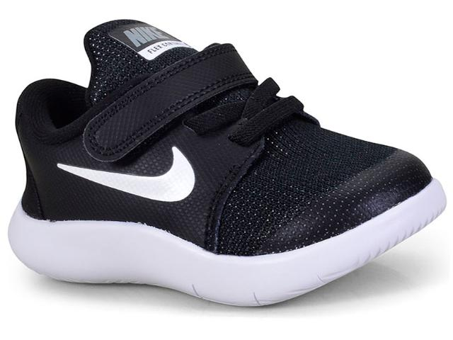Tênis Masc Infantil Nike Ah3445-002 Infantil Flex Contact 2 Preto/branco