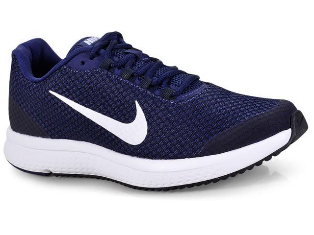 Tênis Masculino Nike 898464-404 Runallday Azul/preto