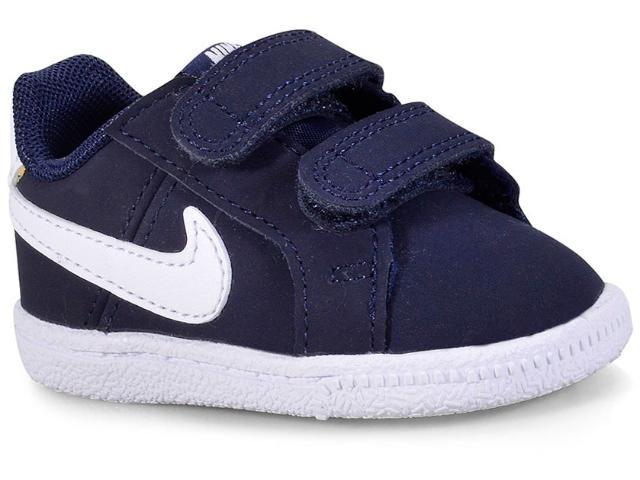 Tênis Masc Infantil Nike 833537-400 Court Royale Marinho/branco