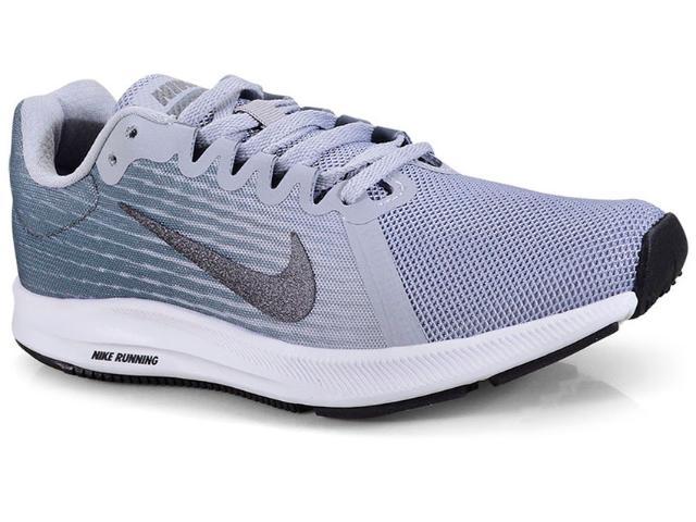 a289a13a7f Tênis Feminino Nike 908994-006 Wmns Downshifter 8 Cinza branco
