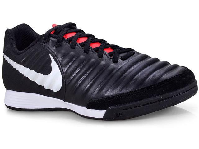 Tênis Masculino Nike Ah7244-006 Tiempo Legendx 7 Academy ic Preto/branco/vermelh