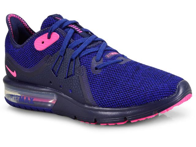 Tênis Feminino Nike 908993-403 Wmns Air Max Sequent 3 Royal/pink