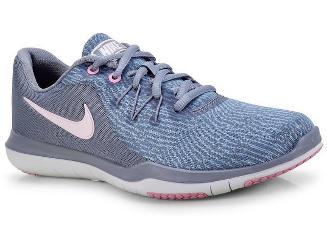 Tênis Feminino Nike 909014-004 Wmns Flex Supreme tr 6 Cinza/rosa