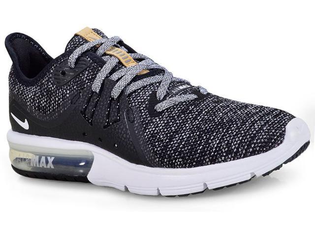 Tênis Feminino Nike 908993-011 Wmns Air Max Sequent 3 Preto/branco